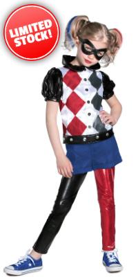 Child DC Superhero Girls Harley Quinn Costume