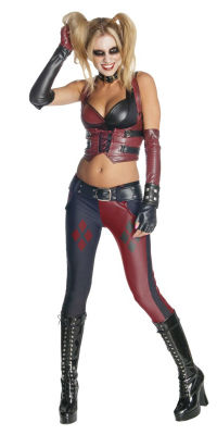 Secret Wishes Arkham Asylum Harley Quinn Costume Halloween