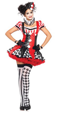 Leg Avenue's Naughty Harley Quinn Dress