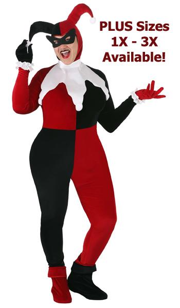 Plus Size 1X-3X Original Harley Quinn Costume Full Figure Women