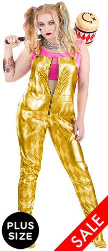 Plus Size Gold Overalls Birds of Prey Harley