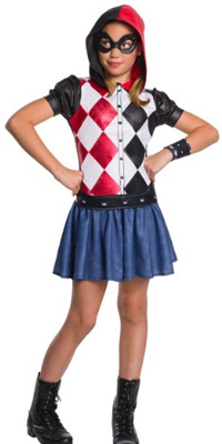 Super Hero Girls Hooded Harley Quinn Costume